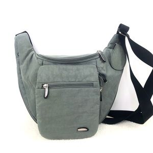 Travelon Gray Nylon Travel Crossbody iBag